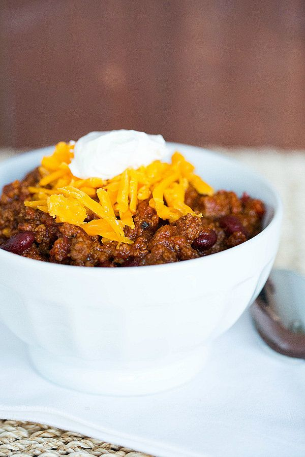 """<strong>Get the <a href=""""http://www.browneyedbaker.com/2013/01/10/all-american-beef-chili/"""" target=""""_blank"""">All-American Beef"""