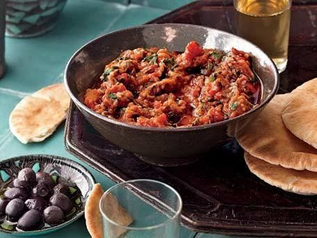 """<strong>Get the<a href=""""http://www.huffingtonpost.com/2011/10/27/pot-roasted-eggplant-with_n_1058626.html"""" target=""""_blank""""> P"""