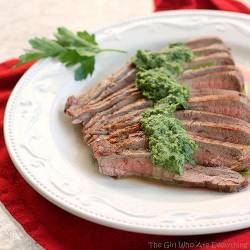 """<strong>Get the <a href=""""http://www.the-girl-who-ate-everything.com/2012/06/skinny-cumin-steak-with-chimichurri.html"""" target="""
