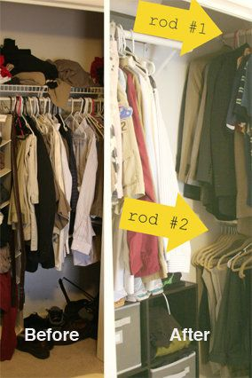 """Even though your closet is called a """"reach-in,"""" the name doesn't quite fit, since the only way to retrieve clothing from its"""