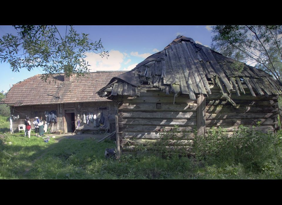 In the Ukrainian countryside, a village elder lives in a traditional way.