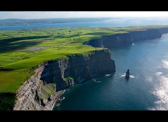 "In County Clare, the time-honored <a href=""http://www.cliffsofmoher.ie/"" target=""_hplink"">Cliff's of Moher</a>'s loom as the"