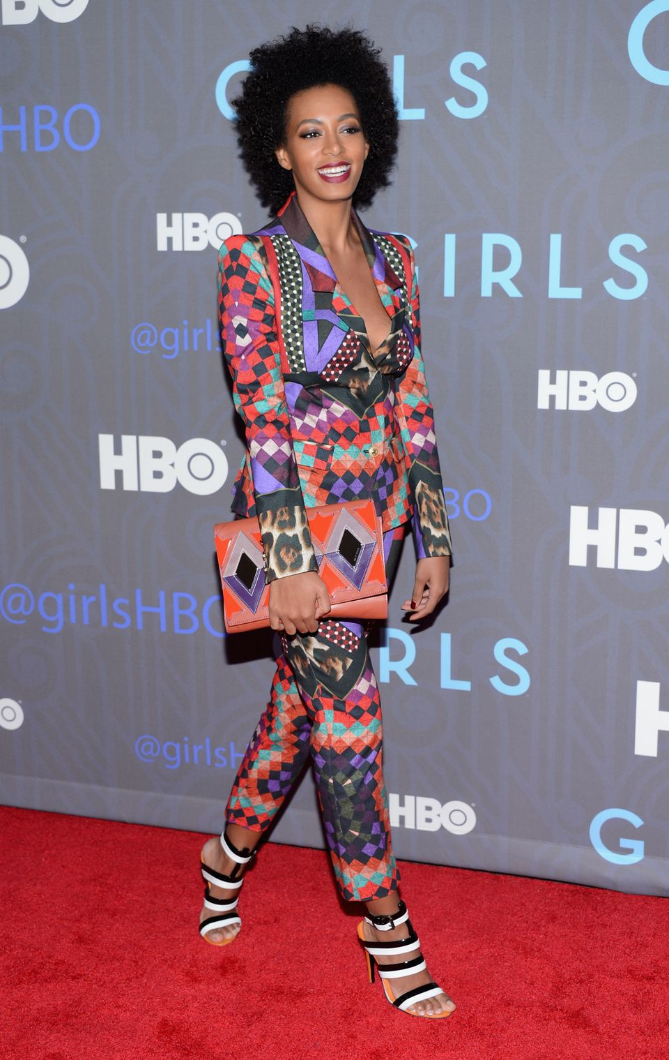 NEW YORK, NY - JANUARY 09:  Solange Knowles attends the Premiere Of 'Girls' Season 2 Hosted By HBO at NYU Skirball Center on