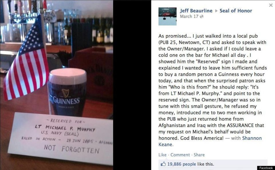 "To honor the memory of a soldier who was killed in action, <a href=""https://www.huffpost.com/entry/facebook-user-sends-beer-o"