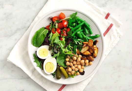 """<strong>Get the <a href=""""http://www.loveandlemons.com/2012/06/04/chickpea-nicoise-salad-roasted-potatoes/"""" target=""""_blank"""">Ch"""
