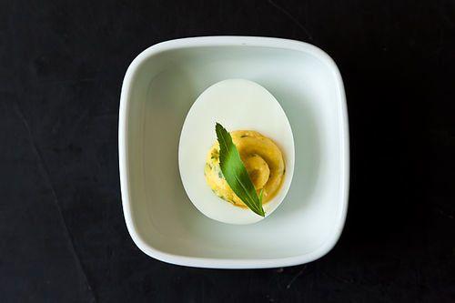 "<strong>Get the <a href=""http://food52.com/recipes/16850-virginia-willis-deviled-eggs"" target=""_blank"">Virginia Willis' Devil"