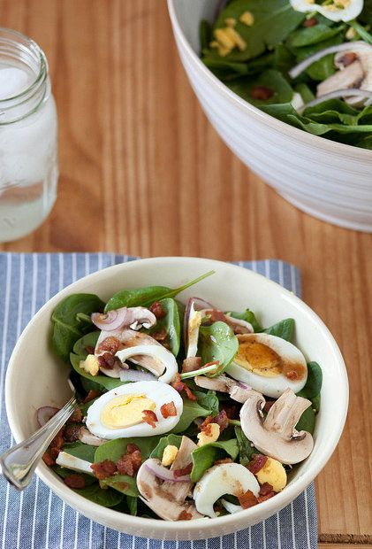 """<strong>Get the <a href=""""http://www.annies-eats.com/2013/04/10/spinach-salad-with-warm-bacon-vinaigrette/"""" target=""""_blank"""">Sp"""
