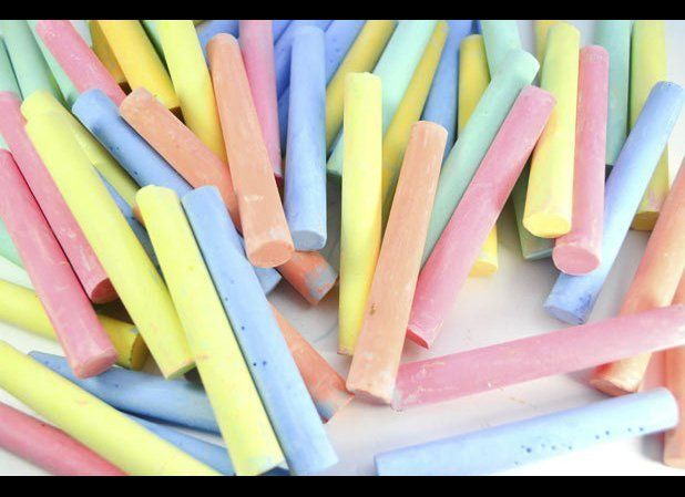Chalk is basically pure calcium, and people with calcium deficiencies have been known to eat it by the box. You'll be fine sh