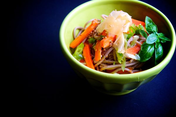 "<strong>Get the <a href=""http://food52.com/recipes/6232-chilled-soba-noodle-salad"" target=""_blank"">Chilled Soba Noodle Salad<"
