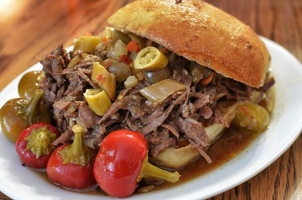 "While the beef is (of course) the star here, Chicago's signature Italian beef sandwich (tastiest at <a href=""https://www.face"