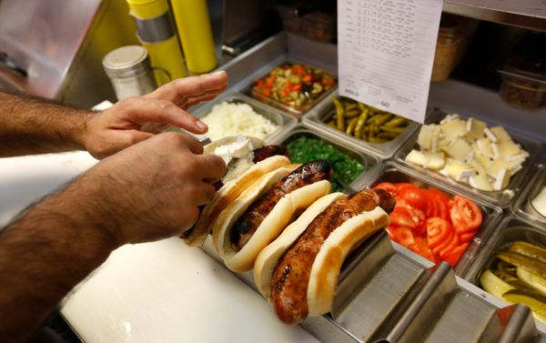 "At least, that is, if it comes from <a href=""http://www.hotdougs.com/"" target=""_blank"">Hot Doug's</a>. (Those duck fat fries?"