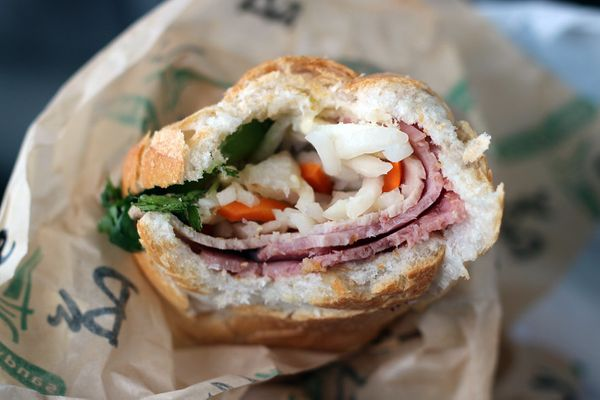 "The banh mi from <a href=""http://www.balesandwich.com/"" target=""_blank"">Ba Le</a> is probably the most out-of-this-world banh"