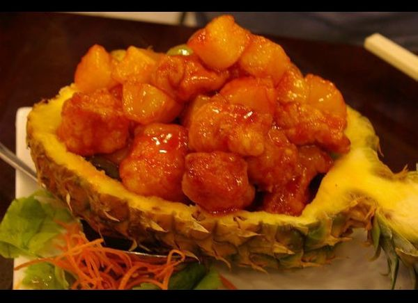 A big difference between American Chinese food and the more traditional variety is the proliferation of dishes with sweet syr