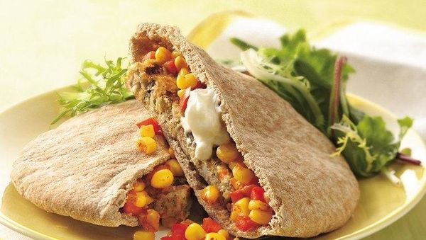 <br><strong>SWAP OUT:</strong> Hamburger Bun<br><br><strong>SWAP IN:</strong> Pita Bread  <br><br> If your anything like us,