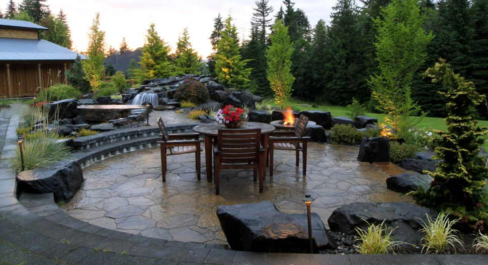 "<a href=""http://porch.com/projects/patio-and-firepit-1"" target=""_blank"">Outdoor Patio and Firepit</a> by Alderwood Landscapin"