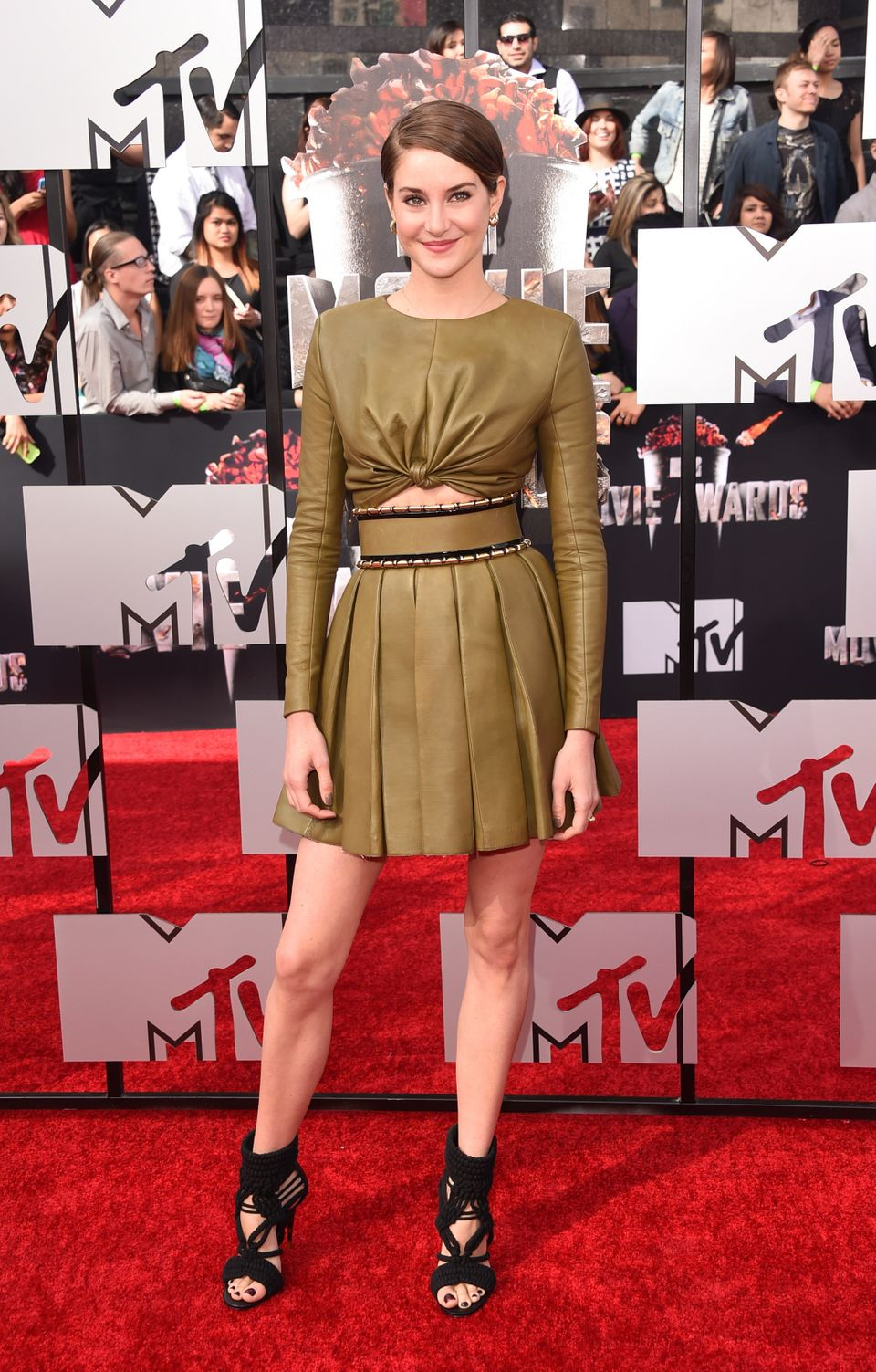 LOS ANGELES, CA - APRIL 13:  Actress Shailene Woodley attends the 2014 MTV Movie Awards at Nokia Theatre L.A. Live on April 1