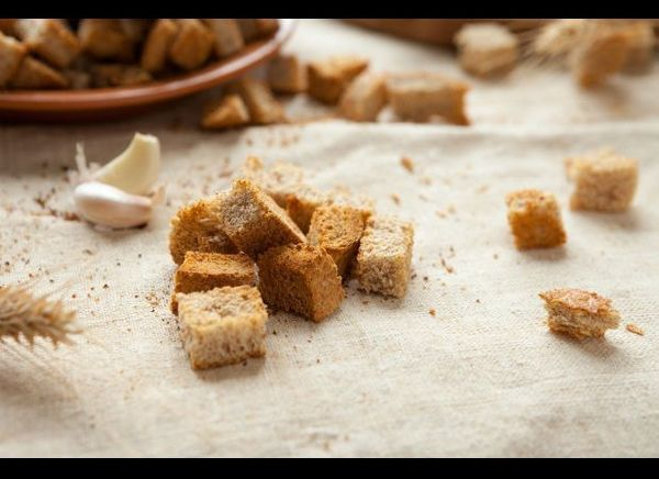 Making croutons at home is easier than you might have thought. With some leftover bread and a toaster oven, you can easily pr