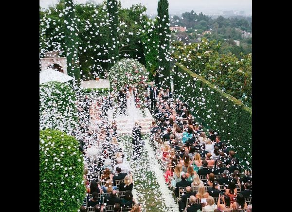 "After the ""I dos,"" guests are often handed rice or, more recently, bottles of bubbles to shower the newly-married couple as t"