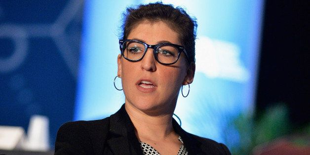 BOSTON, MA - APRIL 03:  Mayim Bialik delivers the Keynote Address and answers questions at the 2014 National Science Teachers Association Annual Convention at Boston Convention & Exhibition Center on April 3, 2014 in Boston, Massachusetts.  (Photo by Paul Marotta/Getty Images)