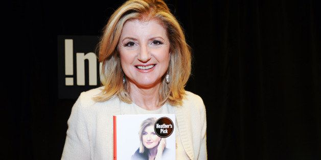 TORONTO, ON - APRIL 21:  Arianna Huffington signs her new book 'Thrive' at Indigo Manulife Centre on April 21, 2014 in Toront