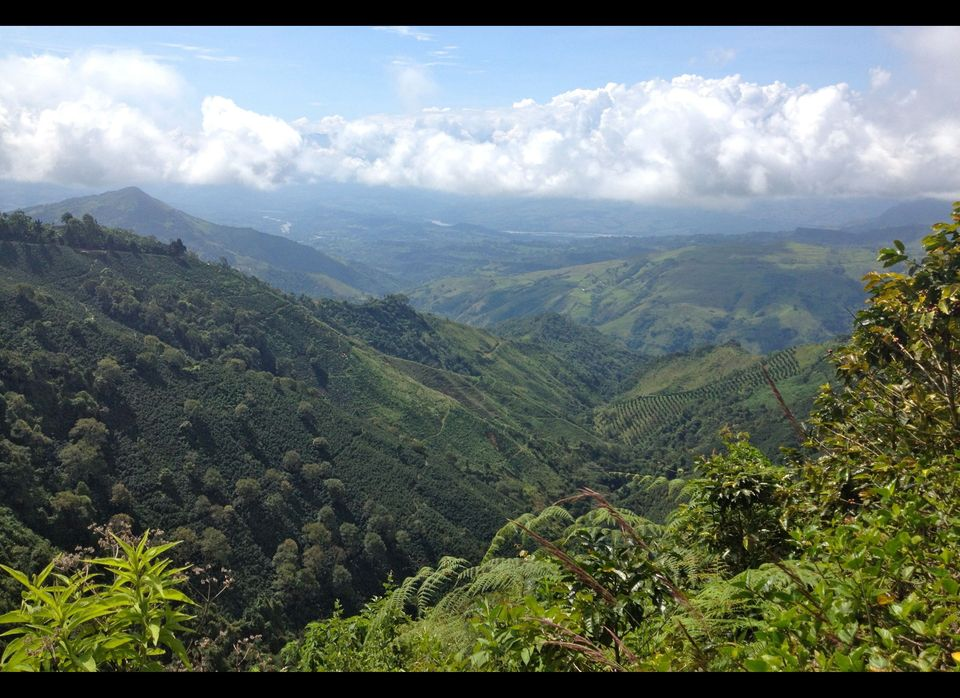 The hilly countryside of Antioquia, Colombia
