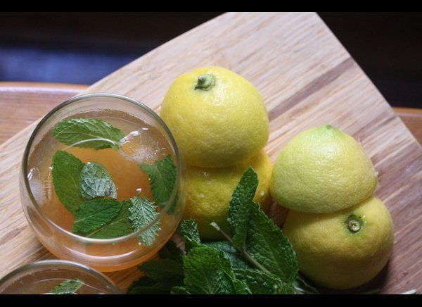 For something to sip on during Derby Day, make this bourbon punch with mint. The combination of sweet tea, bourbon, and mint