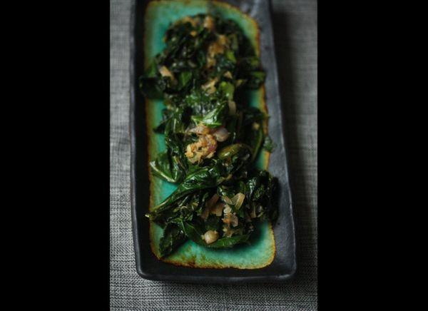 Collard greens are a must for your Derby Day spread. The addition of ginger and jalapeno add the perfect amount of heat to re