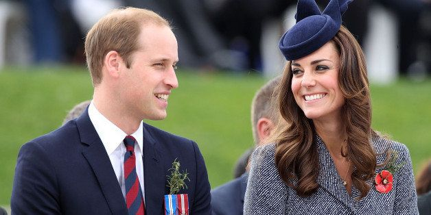 CANBERRA, AUSTRALIA - APRIL 25:  Prince William, Duke of Cambridge and Catherine, the Duchess of Cambridge attend an ANZAC Day commemorative service at the Australian War Memorial  on April 25, 2014 in Canberra, Australia. The Duke and Duchess of Cambridge are on a three-week tour of Australia and New Zealand, the first official trip overseas with their son, Prince George of Cambridge.  (Photo by Danny Martindale/WireImage)
