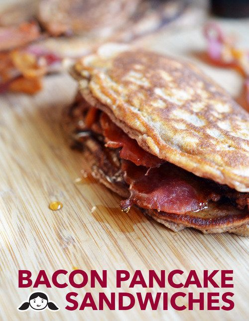 """<strong>Get the <a href=""""http://nomnompaleo.com/post/83528252208/bacon-pancake-sandwiches"""" target=""""_blank"""">Bacon Pancake Sand"""