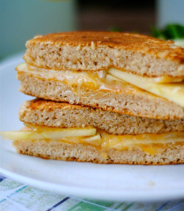 "Get the <a href=""http://www.rachelcooks.com/2012/07/02/cheddar-apple-pancake-sandwich/"" target=""_blank"">Cheddar Apple Pancake"