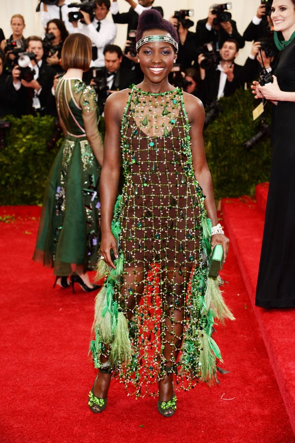 Why, Lupita? The actress' natural beauty was completely overshadowed/overwhelmed by all the gems, feathers and frills on this
