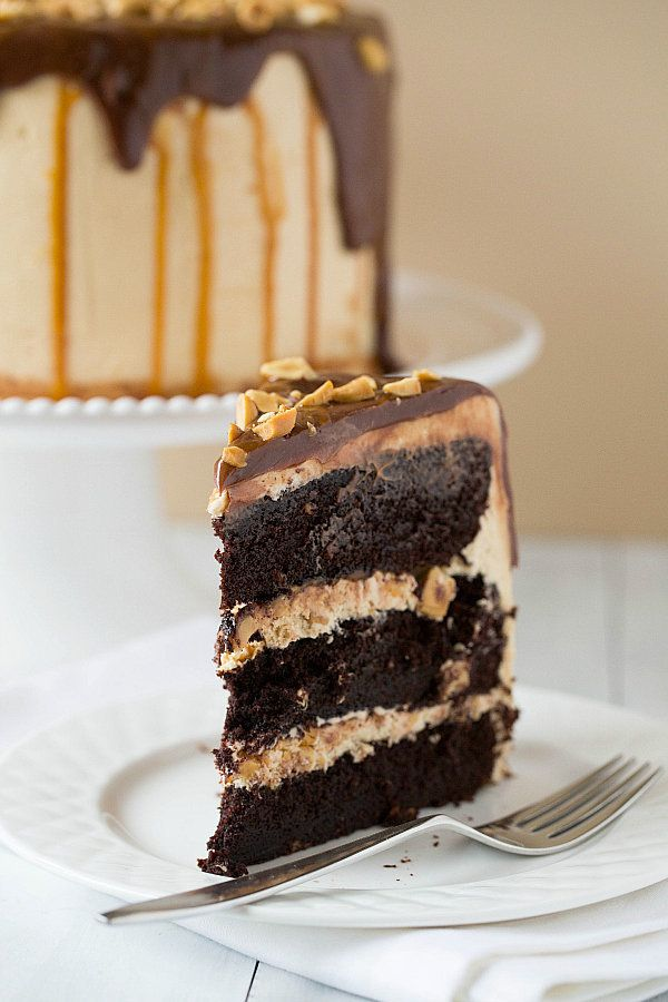 """<strong>Get the <a href=""""http://www.browneyedbaker.com/2013/04/11/snickers-cake/"""" target=""""_blank"""">Snickers Cake recipe</a> by"""