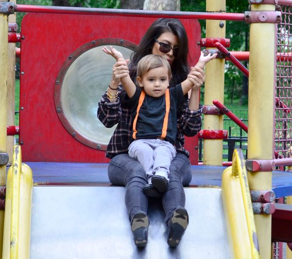 Pictured: Kourtney Kardashian and Mason Dash Disick