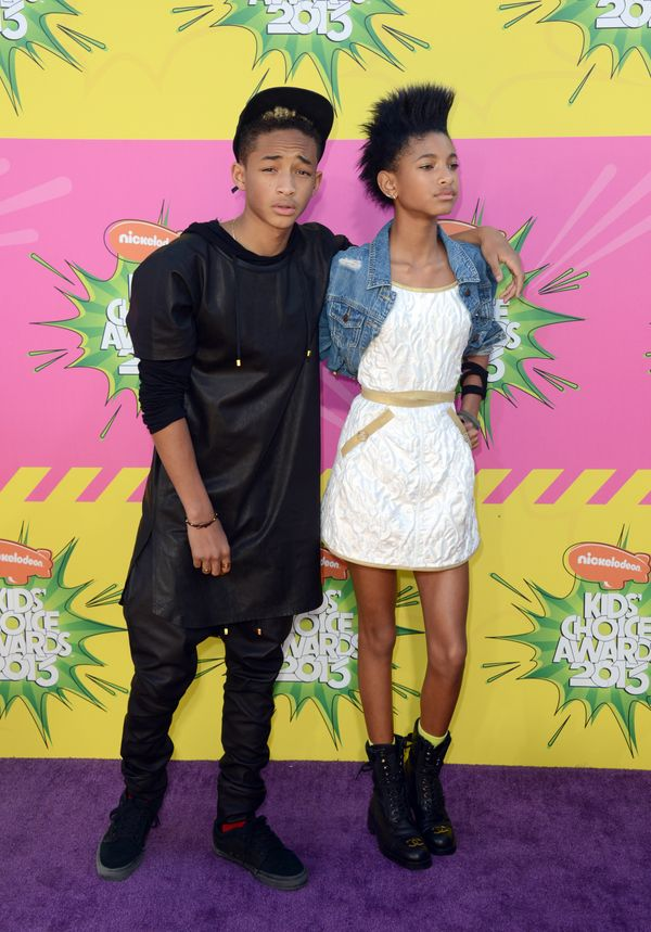 Pictured: Jayden Smith, left, and Willow Smith