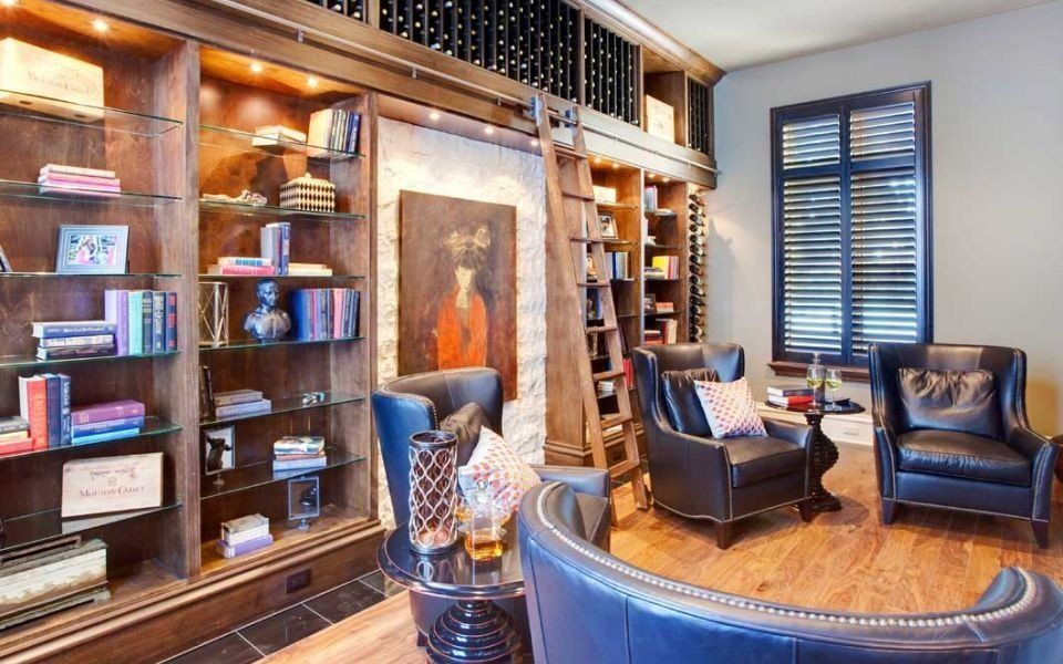 """<a href=""""http://porch.com/projects/wine-library-1?img=33351"""" target=""""_blank"""">Wine and Library by Continental Custom Homes & I"""