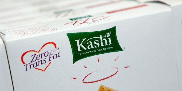 Boxes of Kellogg Co.'s Kashi Tasty Little Crackers (TLC) sit on display at a Walgreen's store in New York, U.S., on Wednesday, Feb. 17, 2010. Kellogg Co.'s Kashi, the health-foods brand that makes Heart to Heart cereal, will increase sales by about two-thirds within five years, to more than $1 billion, said David DeSouza, the unit's general manager. Photographer: JB Reed/Bloomberg via Getty Images