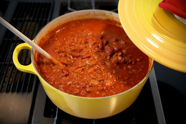 Chili is basically a pot of awesomeness, especially when it comes with all the fixins'.