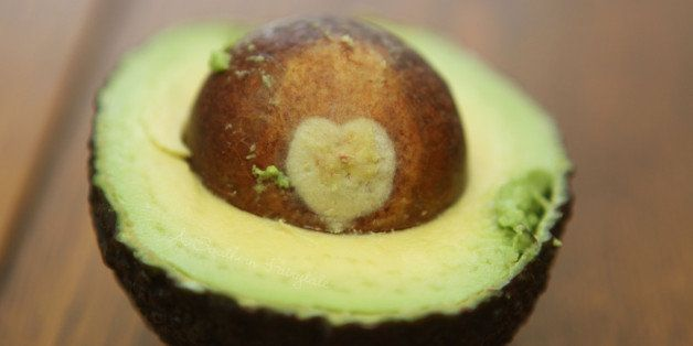 """I opened an avocado today to make this guacamole <a href=""""http://asouthernfairytale.com/2011/02/06/g-is-for-guacamole/"""" rel="""""""