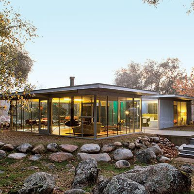 Located in the Sierra Foothills, this gorgeous house was actually made of different pieces shipped from across the country. W