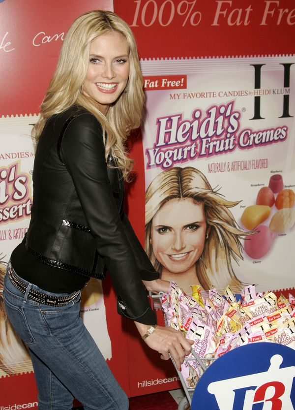 There must be something about pretty blonds and gummy candy! Like Maria Sharapova, model Heidi Klum launched a 'My Favorite C