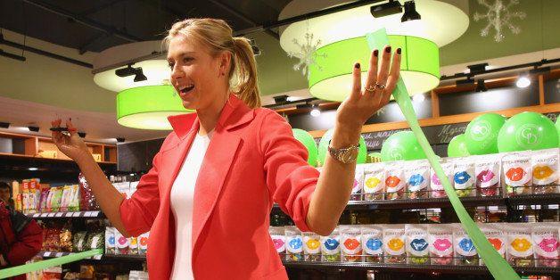 SOCHI, RUSSIA - FEBRUARY 04:  Maria Sharapova launches her candy brand Sugarpova on February 4, 2014 in Sochi, Russia.  (Phot