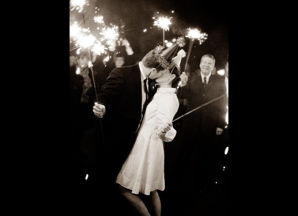 This popular wedding send-off makes for a great picture! We recommend passing out sparklers a few minutes in advance and have