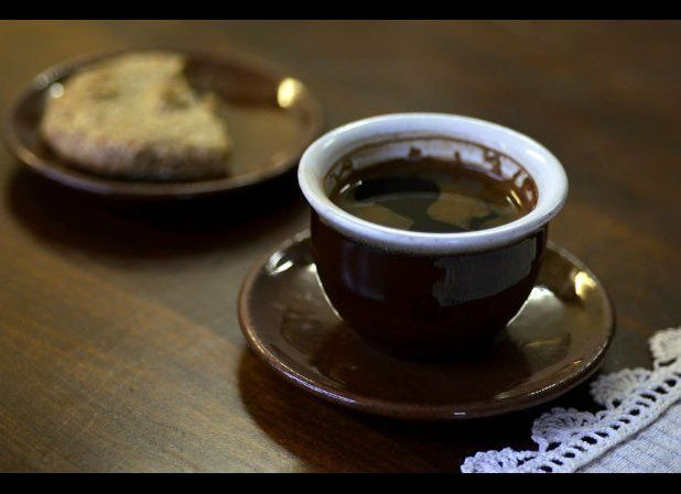 This small yet powerful coffee packs a punch — roasted and finely ground coffee beans are boiled in a tiny pot called a cezve