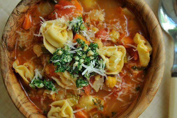 """<strong>Get the <a href=""""https://food52.com/recipes/4661-smoky-minestrone-with-tortellini-and-parsley-or-basil-pesto"""" target="""