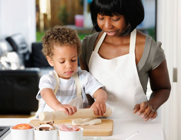 "Cooking is another life skill children can take with them through the years. Let them join you in the kitchen as your ""little"