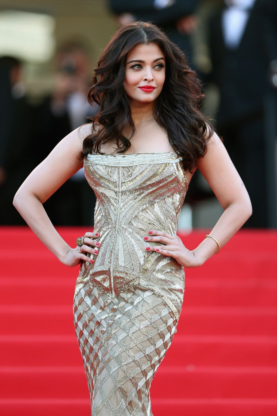 CANNES, FRANCE - MAY 20:  Aishwarya Rai attends the 'Two Days, One Night' (Deux Jours, Une Nuit) premiere during the 67th Ann