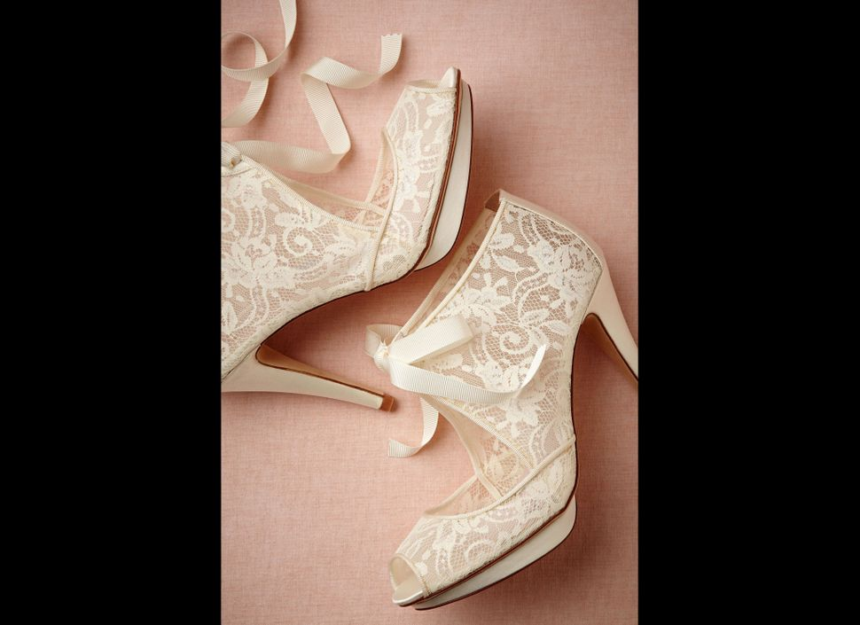 """Pull out your cutest booties and a retro handbag for a vintage-chic look. Chantilly Booties from <a target=""""_blank"""" href=""""htt"""