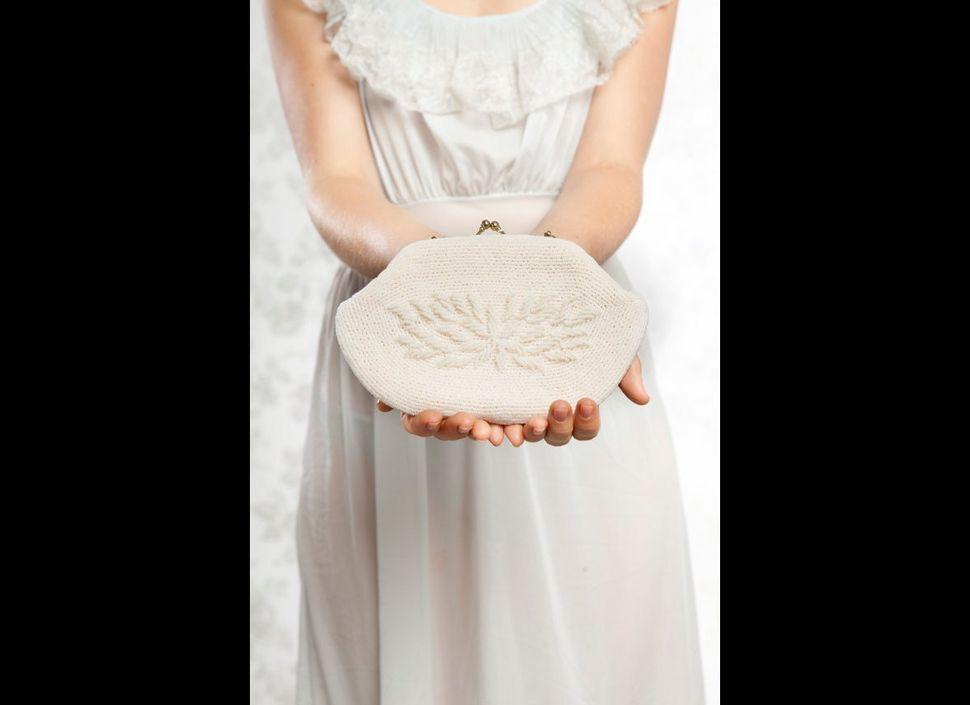 "White beaded vintage bridal purse from <a href=""https://www.etsy.com/shop/LittleWhiteDresser?ref=s2-header-shopname"" target="""