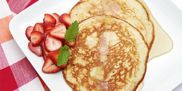 Lemon Souffle Pancakes With Strawberries