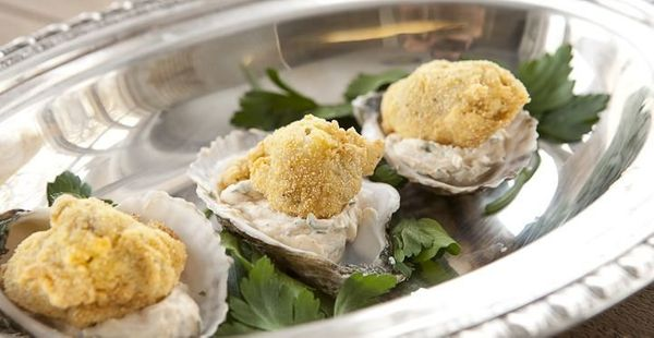 """<strong>Get the <a href=""""http://www.macheesmo.com/2012/12/fried-oysters-with-goat-cheese/"""" target=""""_blank"""">Fried Oysters With"""
